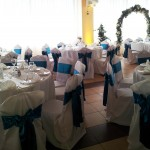 tirkizno plava dekoracija